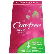Carefree Liners, with Stay Put Wings, Regular, Thong, Unscented
