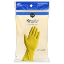Publix Gloves, Latex, Regular, Large