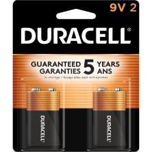 Duracell Coppertop Batteries, Alkaline, 9V