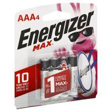 Energizer Max Batteries, Alkaline, AAA