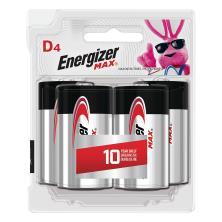 Energizer Max + Powerseal Batteries, Alkaline, D