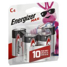 Energizer Max + Power Seal Batteries, Alkaline, C4