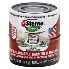 Sterno Green Canned Heat, 2-Pack