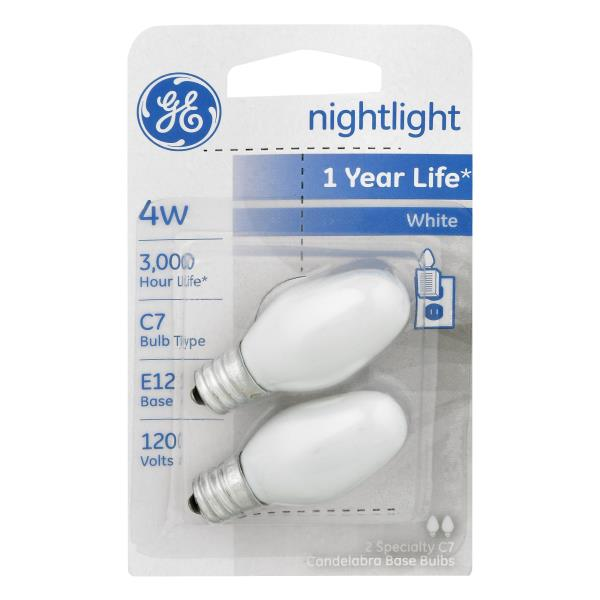 GE Light Bulbs, Nightlight, 4 Watts