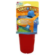 The First Years Take & Toss Sippy Cups, 10 Ounce, 9M+