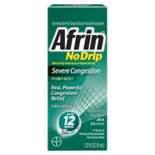 Afrin No Drip Severe Congestion, Maximum Strength Plus Menthol, Pump Mist