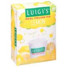Luigis Italian Ice, Real, Lemon