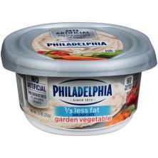 Philadelphia Cream Cheese, Reduced Fat, Garden Vegetable