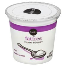 Publix Yogurt, Fat Free, Plain