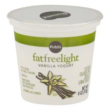 Publix Yogurt, Fat Free, Light, Vanilla