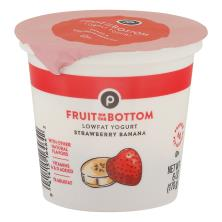 Publix Yogurt, Lowfat, Fruit on the Bottom, Strawberry Banana