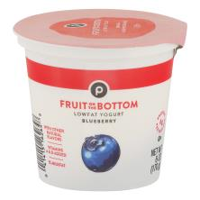 Publix Yogurt, Lowfat, Fruit on the Bottom, Blueberry