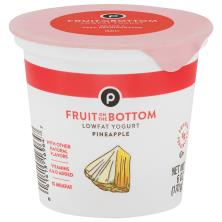 Publix Yogurt, Lowfat, Fruit on the Bottom, Pineapple