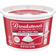 Breakstones Cottage Cheese, Small Curd, 4% Milkfat Min
