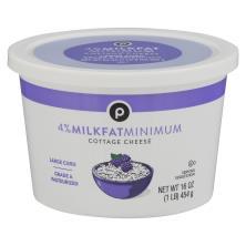 Publix Cottage Cheese, Large Curd, 4% Milkfat Minimum
