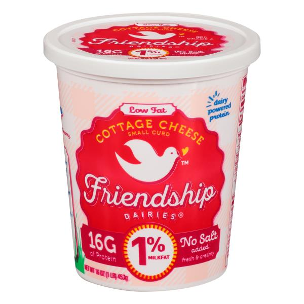 friendship cottage cheese low fat small curd 1 milkfat no salt rh publix com friendship 4 cottage cheese nutrition friendship cottage cheese nutrition label