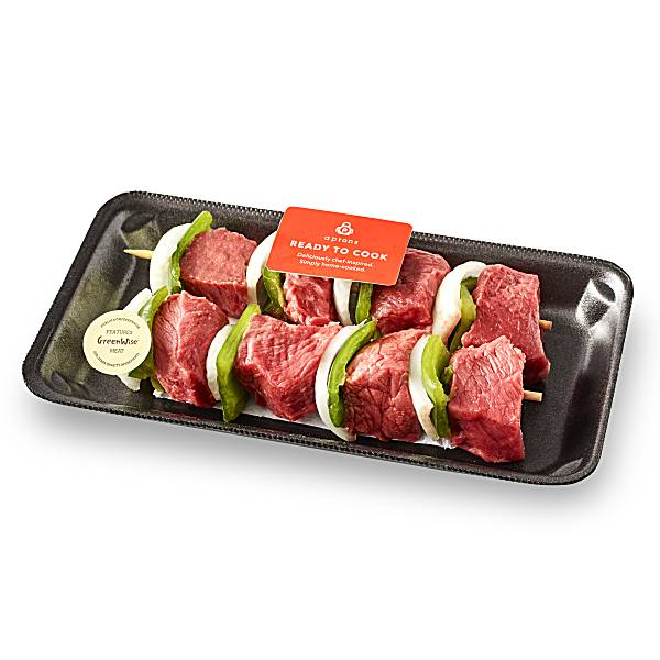 GreenWise Beef Sirloin Kabobs, with Vegetables Raised Without Antibiotics