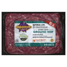 Maverick Ranch Natural Lite Beef, Ground, Extra Lean, 96/4