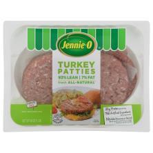 Jennie O Turkey Burger Patties, 90% Lean/10% Fat