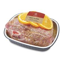 Aprons Mojo Seasoned, Pork Shoulder Picnic Portion Prepared Fresh In-Store