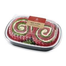 Aprons Stuffed Flank Steak, with Provolone Cheese Prepared Fresh In-Store