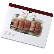 Aprons Campfire Hot Italian Sausage Meal, with Peppers and Onions, Grill or Oven Bake