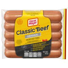 Oscar Mayer Beef Franks, Classic, Uncured