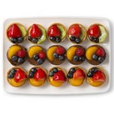 Fresh Fruit Tart Platter Small 15 Count