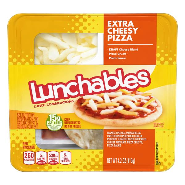Lunchables Lunch Combinations, Extra Cheesy Pizza