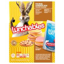 Lunchables Lunch Combinations, Ham & American Cracker Stackers