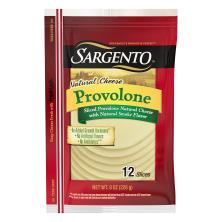 Sargento Cheese, Natural, Provolone, Slices