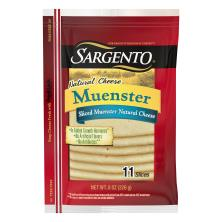 Sargento Cheese, Natural, Muenster, Slices