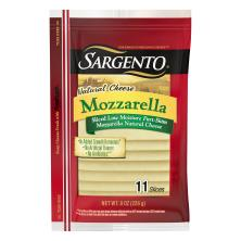 Sargento Cheese, Part-Skim, Natural, Mozzarella, Low-Moisture, Slices