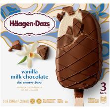 Haagen Dazs Ice Cream Bars, Vanilla Milk Chocolate