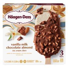 Haagen Dazs Ice Cream Bars, Vanilla Milk Chocolate Almond