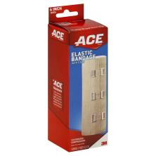 ACE Elastic Bandage, with Clips, 6 Inch