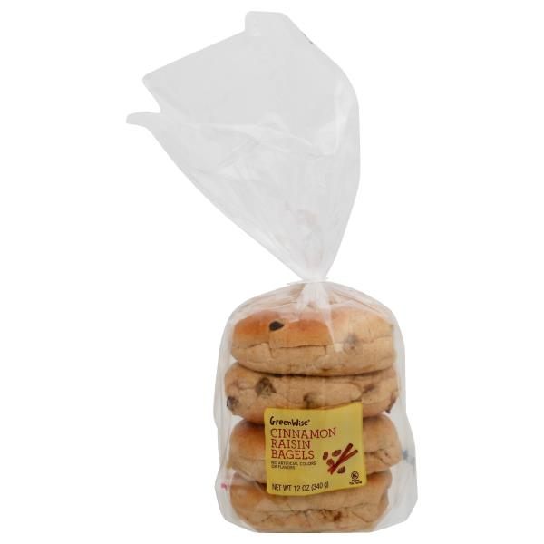 GreenWise Cinnamon Raisin Bagels 4-Count