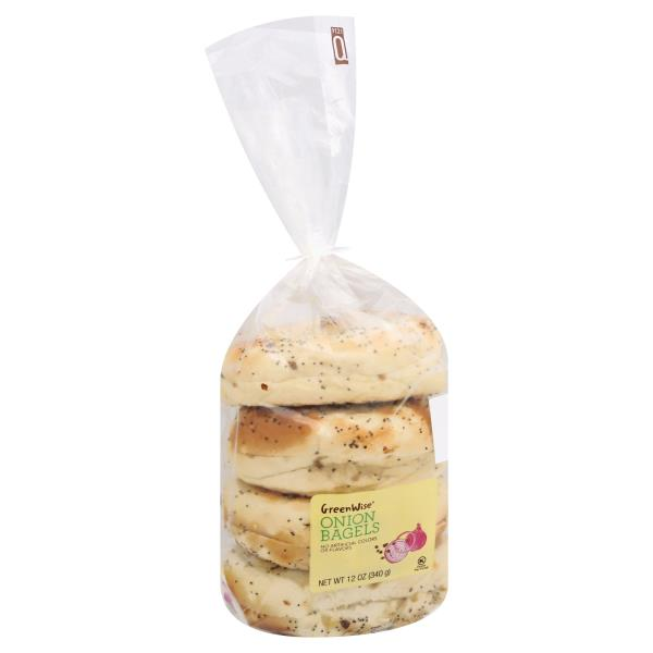 GreenWise Onion Bagels 4-Count