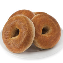 100% Whole Wheat Bagels 4-Count