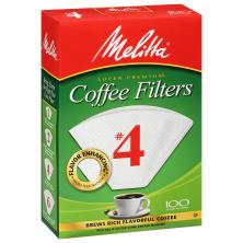 Melitta Coffee Filters, No. 4, Super Premium