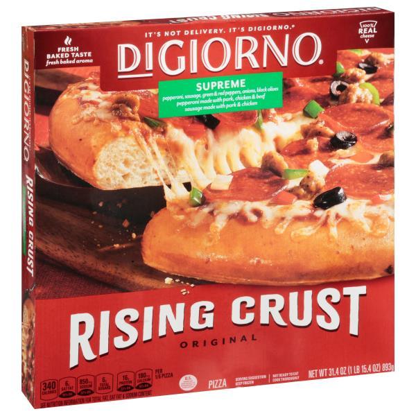 DiGiorno Pizza, Original Rising Crust, Supreme