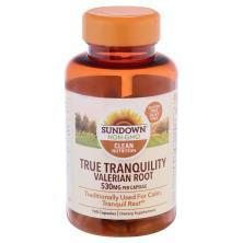 Sundown Naturals Valerian Root, 530 mg, Capsules