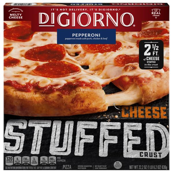 DiGiorno Pizza, Cheese Stuffed Crust, Pepperoni
