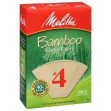 Melitta Coffee Filters, Cone, Bamboo, No. 4
