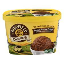 Mayfield Creamery Ice Cream, Premium, Peanut Butter Fudge