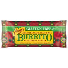 Amys Burrito, Gluten Free, Cheddar Cheese