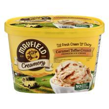 Mayfield Creamery Ice Cream, Premium, Caramel Toffee Crunch