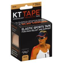 KT Tape Sports Tape, Elastic, Beige, Original, Precut Strips