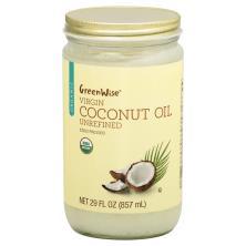 GreenWise Coconut Oil, Virgin, Organic, Unrefined