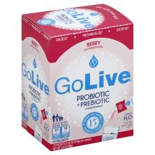 Golive Probiotic + Prebiotic, Packets, Berry Pomegranate